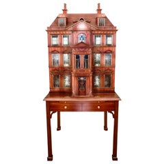 Maitland Smith Postmodern Victorian Dollhouse Dry Bar Cabinet Cupboard, Vintage