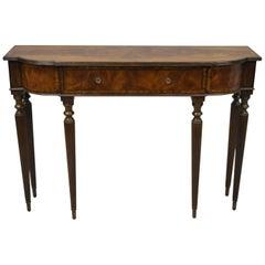 Maitland-Smith Regency Sheraton Mahogany Narrow Console Sofa Hall Table