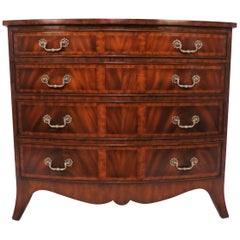 Maitland-Smith Regency Style Bow Front Mahogany Inlaid Chest