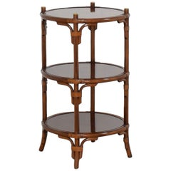 Maitland Smith Regency Style Occasional Table with Brass Accents, Multi-Levelled