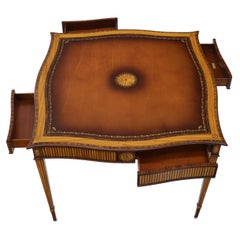 Maitland Smith Square Inlay Game Table with Four Drawers