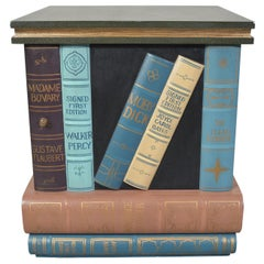 Maitland Smith Stacked Books Library End Table/Cabinet