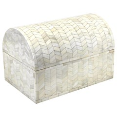 Maitland Smith Style Tessellated Casket