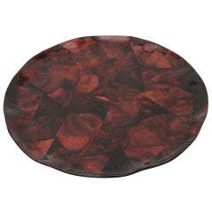 Maitland Smith Tesselated Coconut Shell Tray or Serving Platter