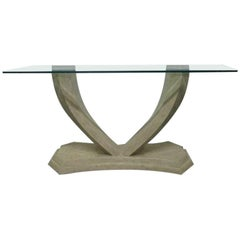 Maitland Smith Tessellated Console Table