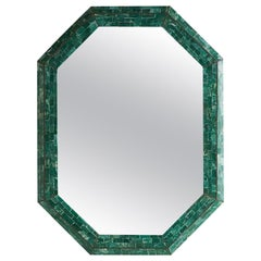 Maitland Smith Tessellated Green Marble Mirror