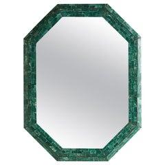 Maitland Smith Tessellated Green Marble Mirror