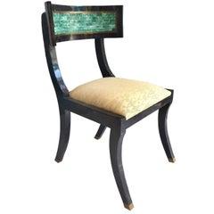 Maitland-Smith Tessellated Horn and Stone Klismos Chair