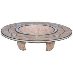 Maitland-Smith Tessellated Stone Art-Deco Style Bowl