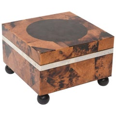 Maitland-Smith Tessilated Tortoise Square Shell Hinged Box