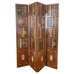 Maitland Smith Tooled Leather Room Divider & Screen, Embossed, Gilt, Handmade