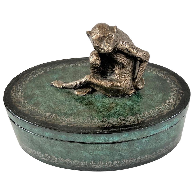 Maitland Smith Wooden Jewelry Trinket Box