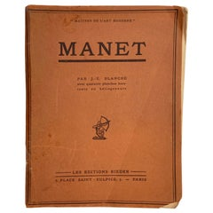 Maitres De L'Art Moderne 'Manet' Book by Jacques-Emile Blanche, Paris, 1924