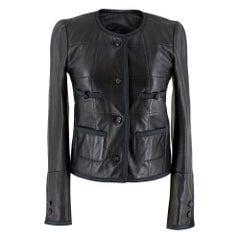Maje Shannon Short Leather Jacket XS