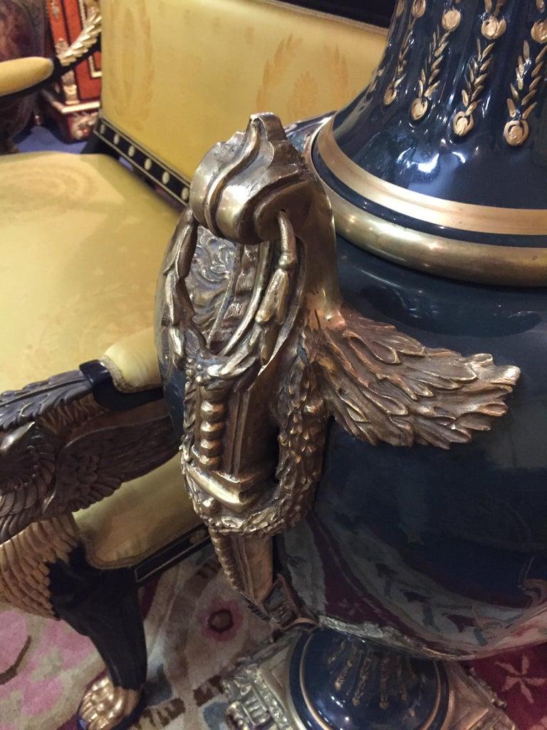Majesatical Sevre Vase in 18th Century Style, Paris For Sale 5