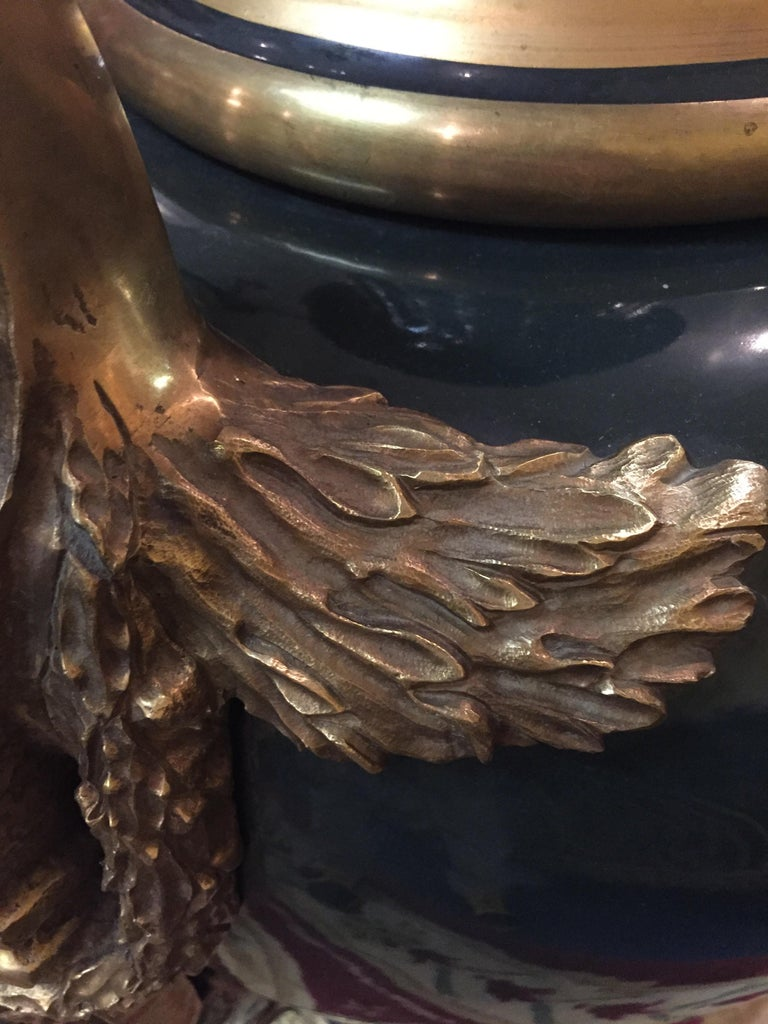 Majesatical Sevre Vase in 18th Century Style, Paris For Sale 6