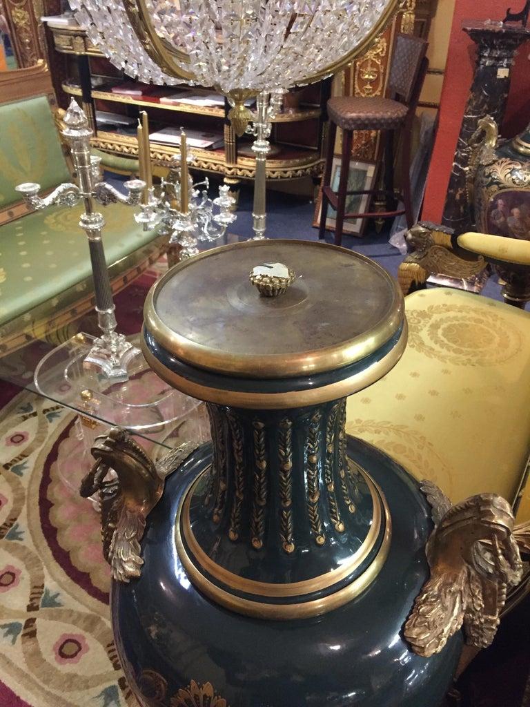 Majesatical Sevre Vase in 18th Century Style, Paris For Sale 7