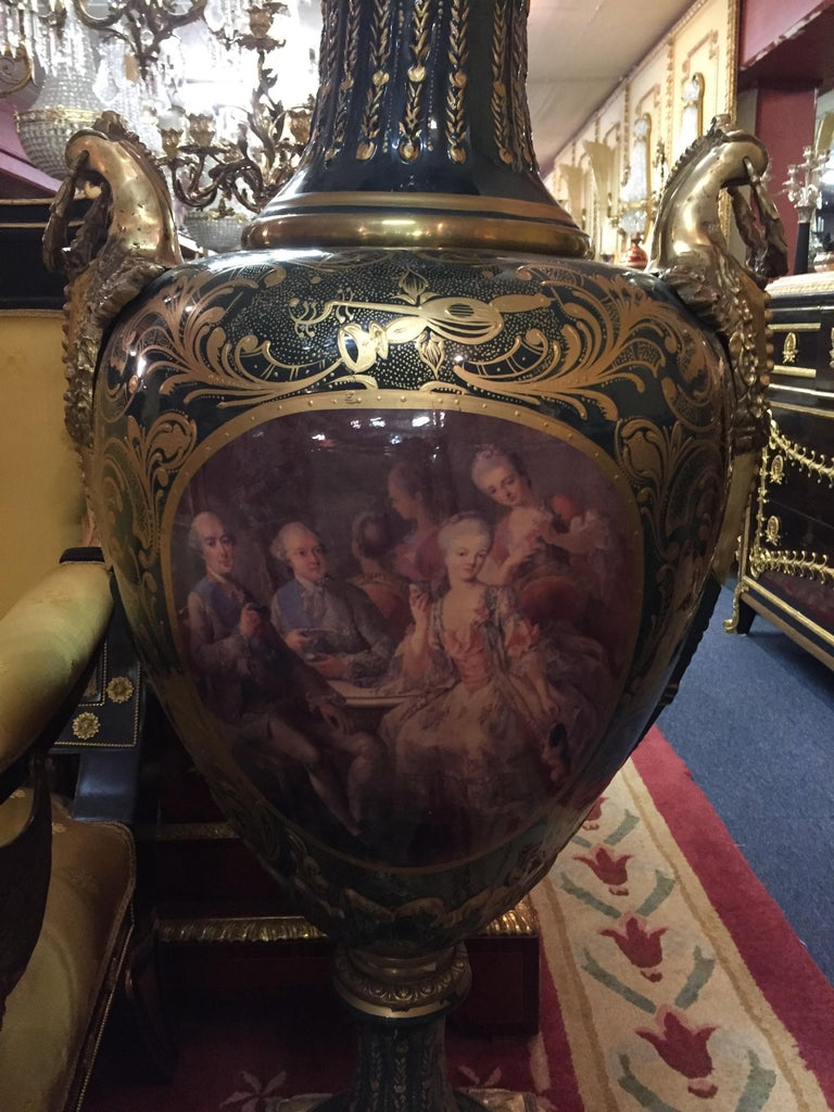 Majesatical Sevre Vase in 18th Century Style, Paris For Sale 8
