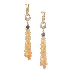 Majesta Yellow Sapphire Cluster Earrings