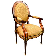 Majestic Armchair in Louis Seize Style with Bronze