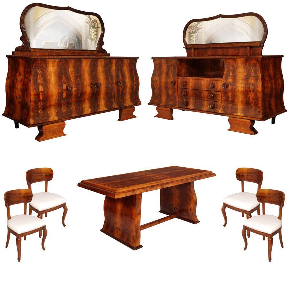 Majestic Art Deco Dining Room Attributed Atelier Gaetano Borsani, Varedo