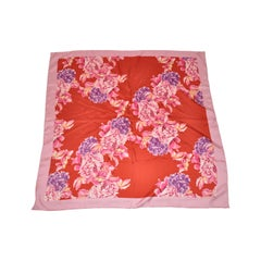 "Majestic & Beautiful Vivid ""Shades of Red, Pink & Violet  Roses""  Silk Scarf"