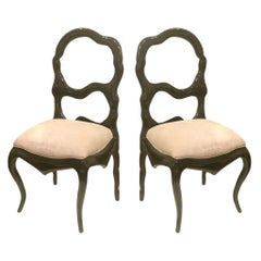 Majestic Big Dining Chairs in Solid Mahogany Frames Lacquered