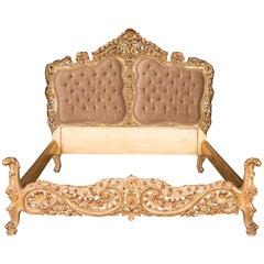 Majestätisches Doppelbett im Stil von Louis Quinze