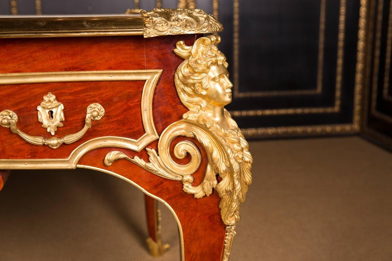 Majestic French Bureau Plat Desk According to Andre C. Boulle In Good Condition For Sale In Berlin, DE