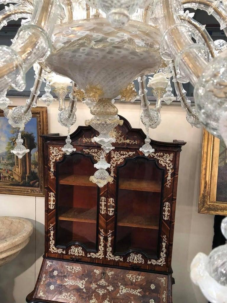 20th Century Majestic Italian Chandelier, Murano, 1980s For Sale