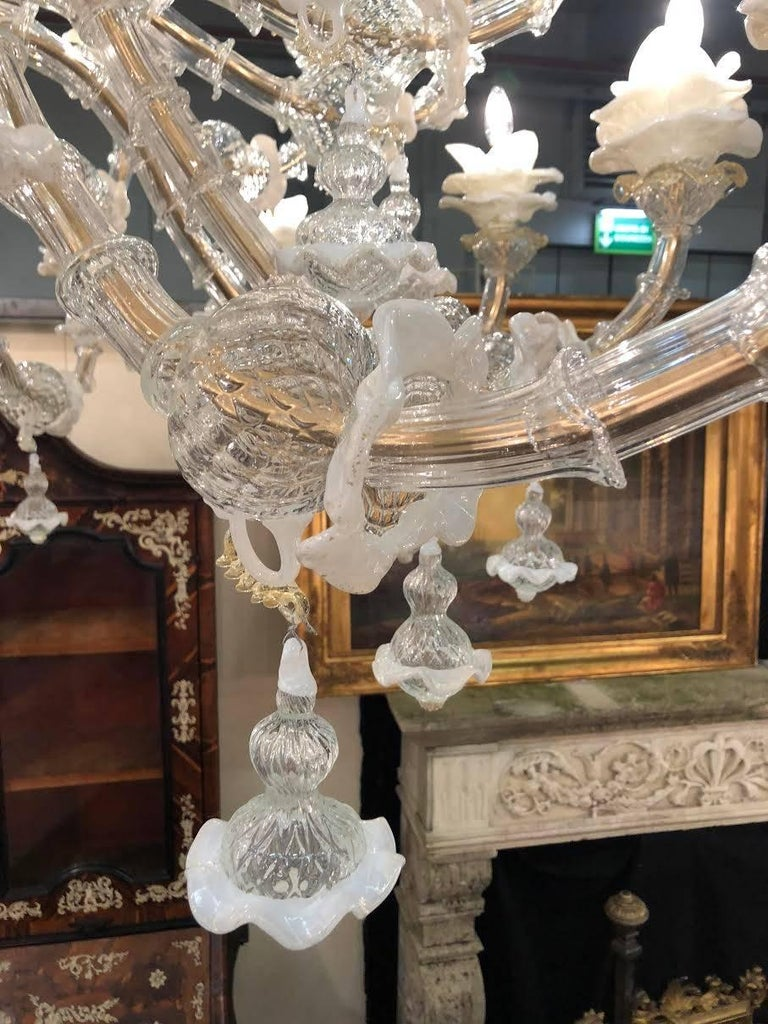 Murano Glass Majestic Italian Chandelier, Murano, 1980s For Sale
