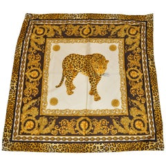 """Majestic Leopard"" Silk Blend Scarf"