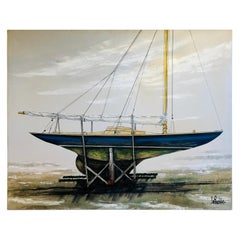 Majestic Original X-Large Sailboat Painting by Lee Reynolds
