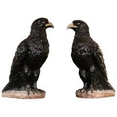 Majestic Pair of Majolica Eagles of circa 1890