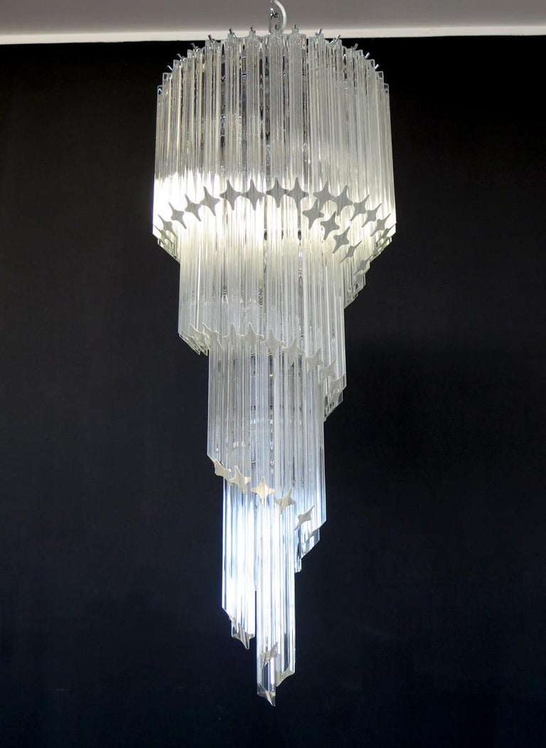 Majestic Pair of Murano Chandeliers, Murano For Sale 4