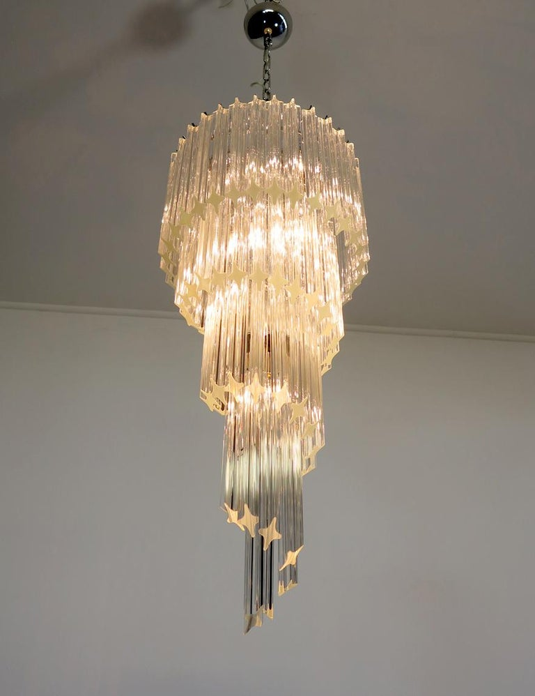 Majestic Pair of Murano Chandeliers, Murano For Sale 7