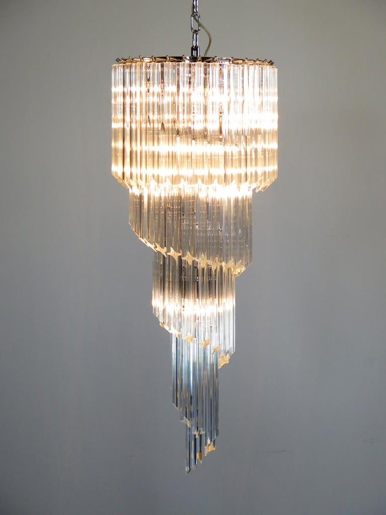 Majestic Pair of Murano Chandeliers, Murano For Sale 9
