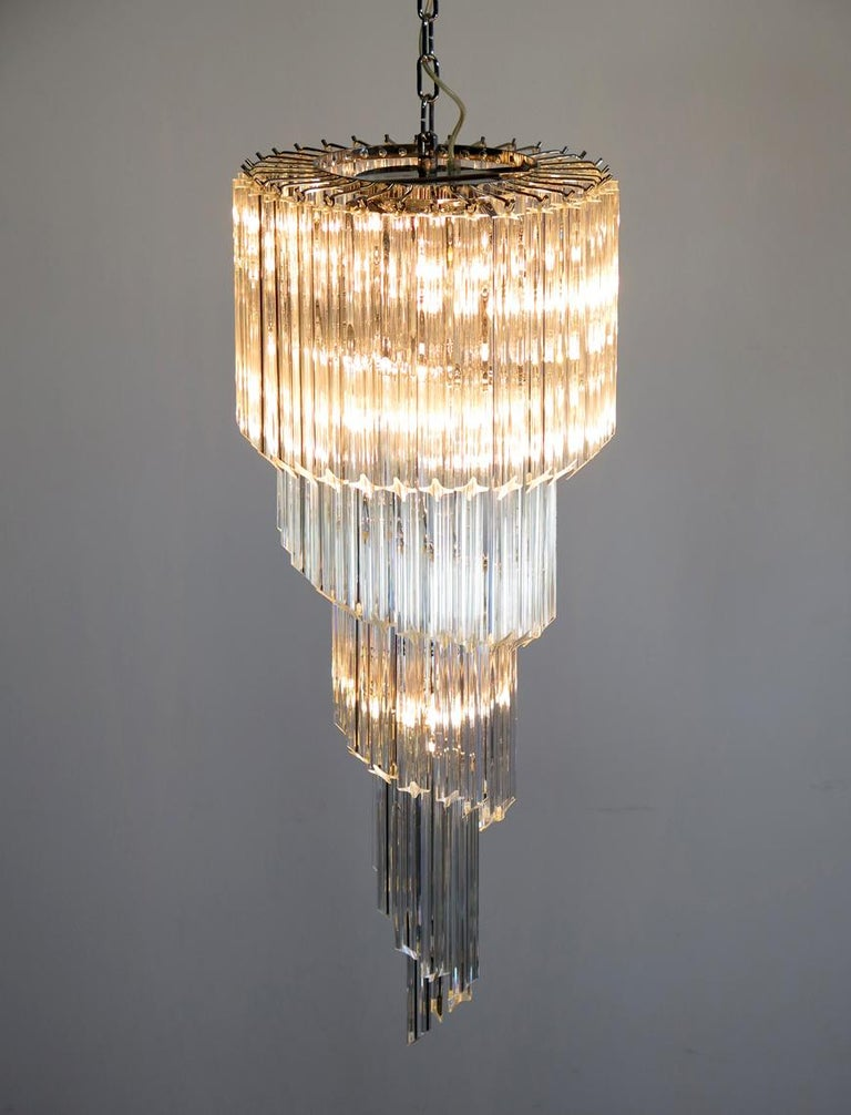 Majestic Pair of Murano Chandeliers, Murano In Excellent Condition For Sale In Budapest, HU