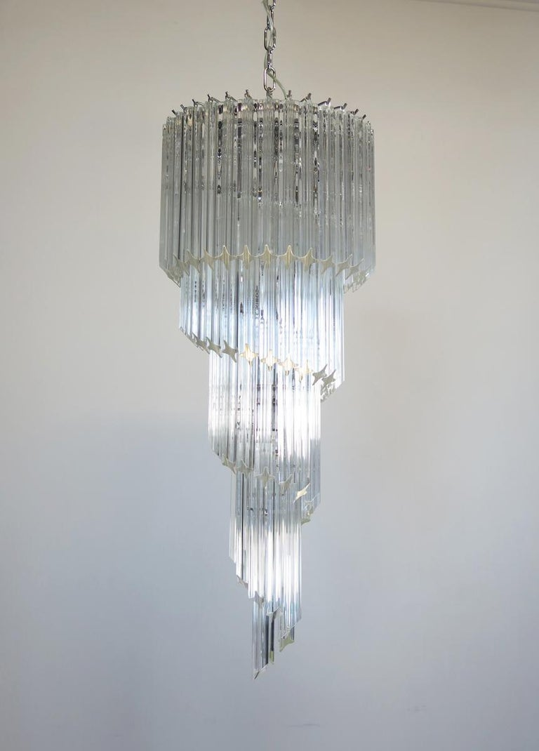 20th Century Majestic Pair of Murano Chandeliers, Murano For Sale