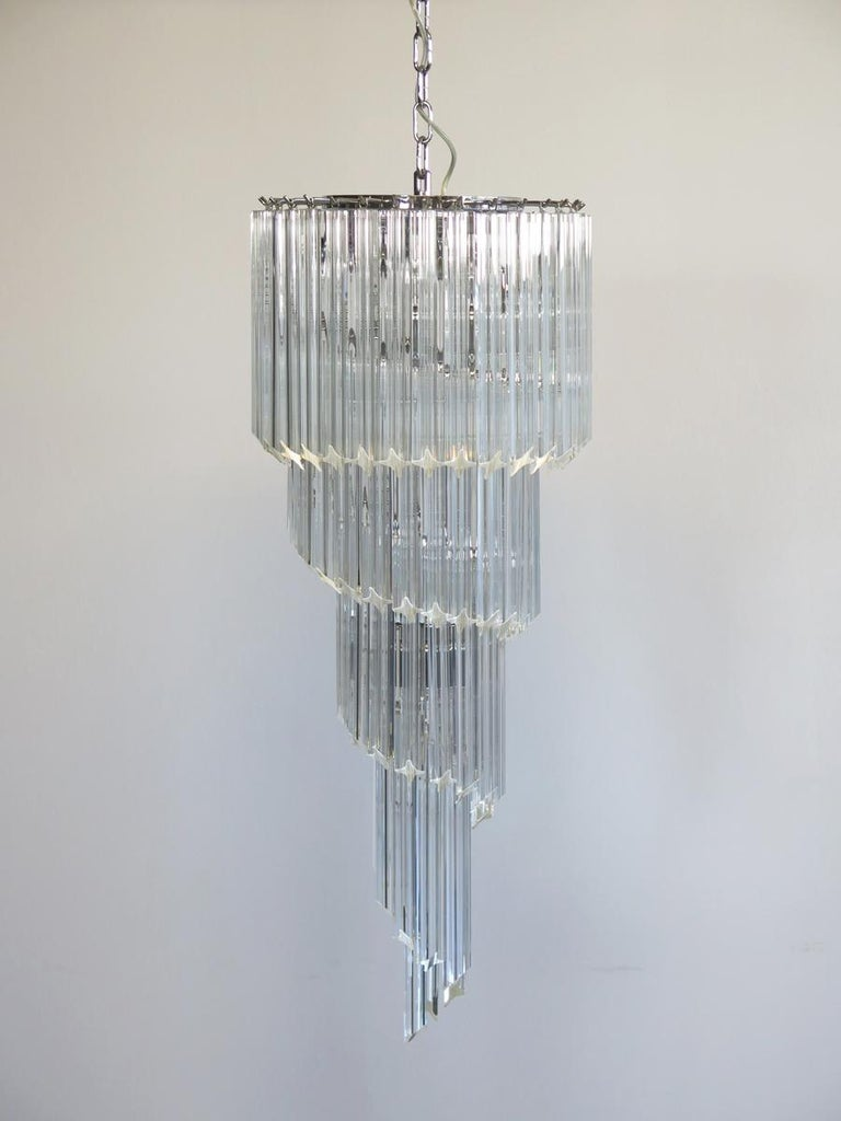 Majestic Pair of Murano Chandeliers, Murano For Sale 1