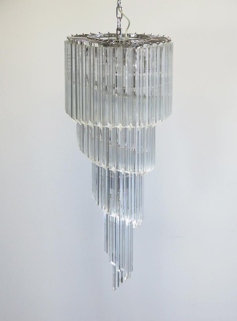 Majestic Pair of Murano Chandeliers, Murano For Sale 2