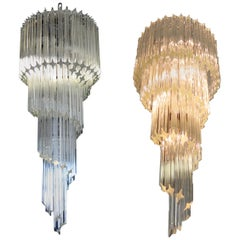 Majestic Pair of Murano Chandeliers, Murano