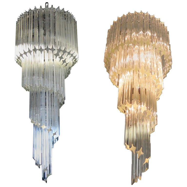 Majestic Pair of Murano Chandeliers, Murano For Sale