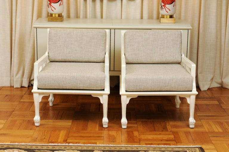 American Majestic Pair of Thebes Loungers by John Hutton for Randolph & Hein, circa 1975 For Sale