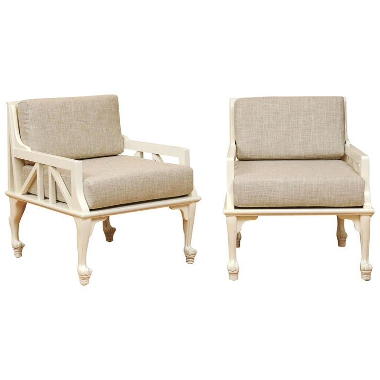 Majestic Pair of Thebes Loungers by John Hutton for Randolph & Hein, circa 1975 For Sale
