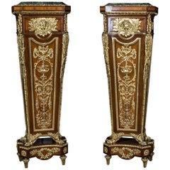 Majestic Pedestal Pillar in the Style of Louis XVI According Jean Henri Riesen