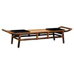 Majestic Restored Pagoda Coffee Table or Bench by John Wisner, circa 1954
