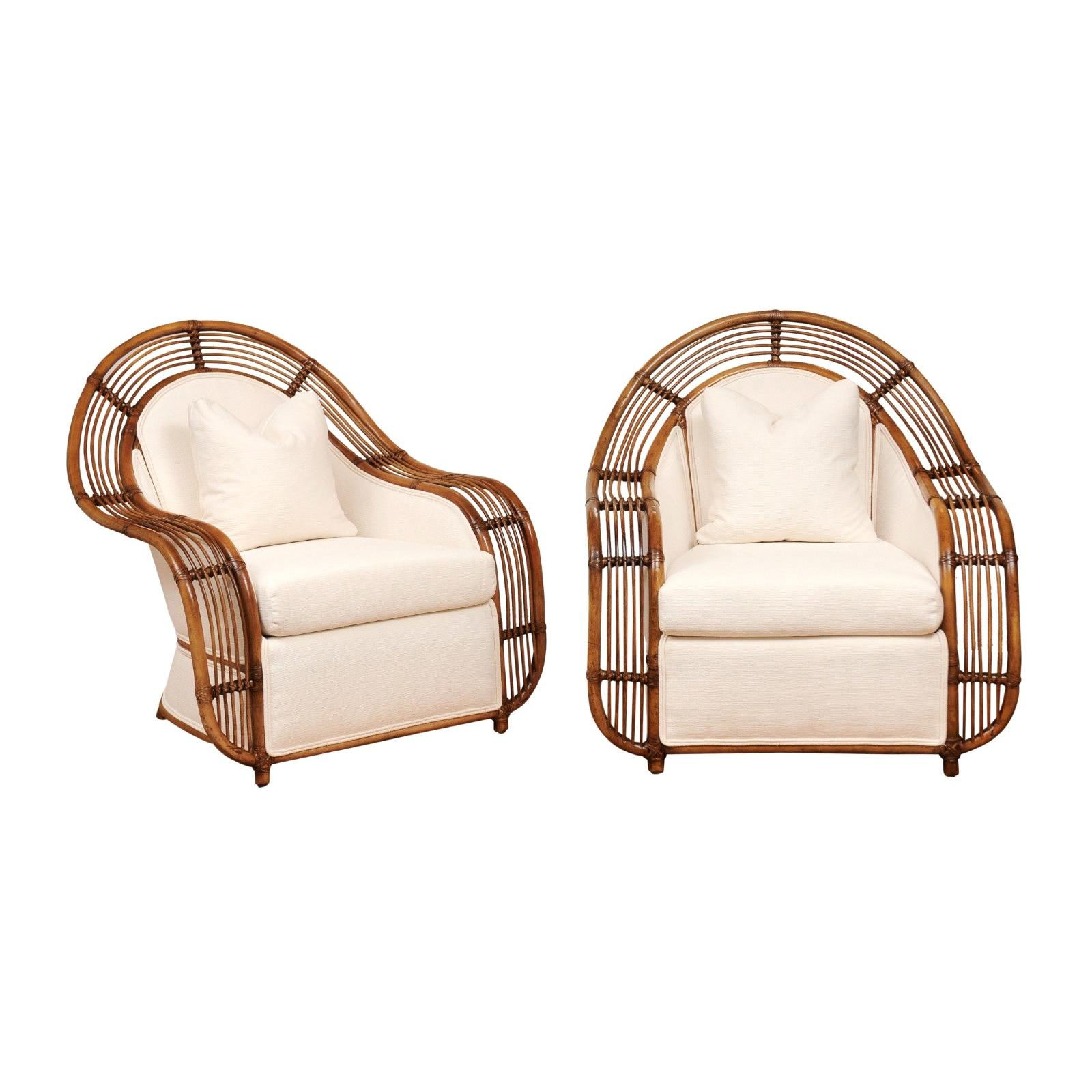Majestic Restored Pair of Breille Club Chairs by Henry Olko, circa 1980