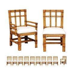 Majestic Set of 12 Greene & Greene Inspired Chairs by Brown Jordan, circa 1980