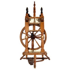 Majestic Spinning Wheel Made of Ebony Wood